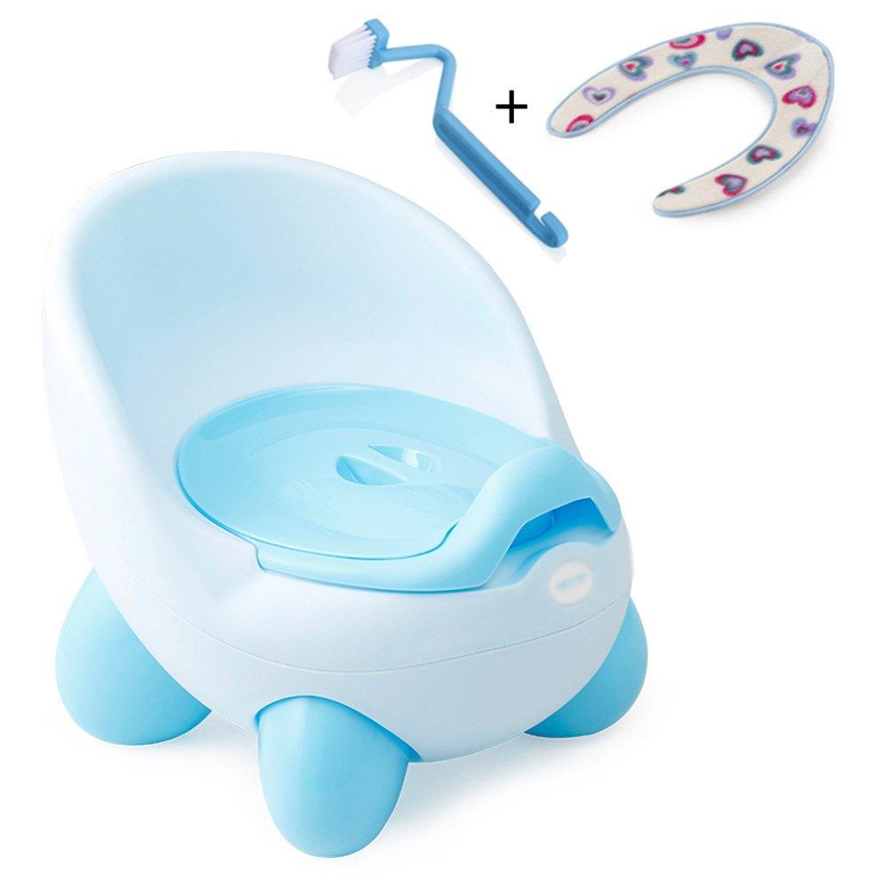 WC Escalera para Mini inodoro con asas azul Asiento de inodoro - Entrenador de inodoro para niños o niñas | Seguro antideslizante superficie del bebé para bebés pequeños 29 * 24 * 34 * 28cm: Amazon.es: Hogar
