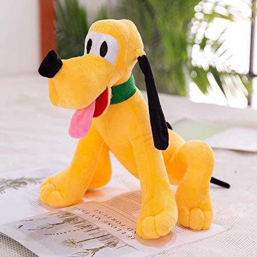 Qylfsxb Peluche Disney Sit Versión Lengua Larga Perro De Peluche De Juguete Muñeca Almohada Pluto Apaciguar Niños Muñeca 55cm