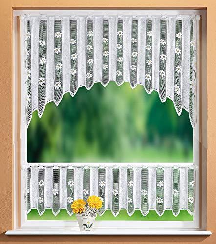 Gardinenbox Scheibengardinen Set 2 Teilig, 30/75x160, 33514, 33500