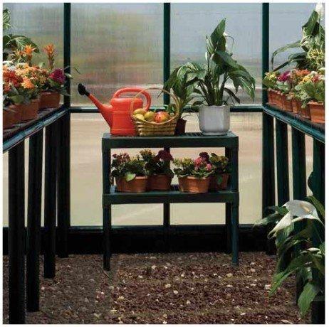 Doubles étagères pour serre de jardin - Hauteur : 85 cm - longueur : 80 cm