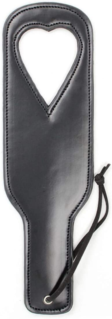 Zishine 2 Detroit Mall Pcs Paddle Whip Sexy Heart-Shaped Ranking TOP19 Toy SM Leather Black