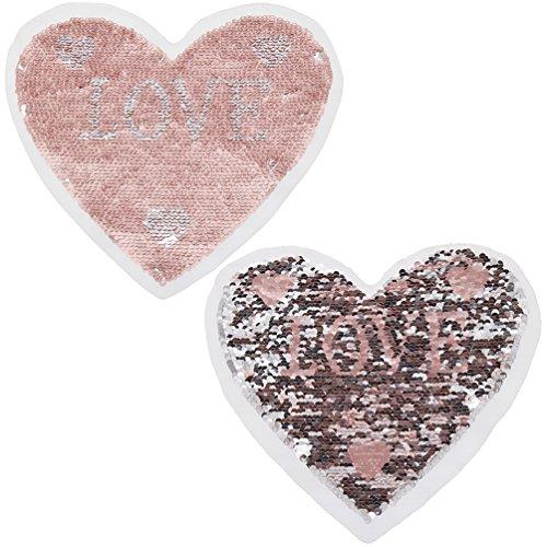 YNuth Parche Lentejuelas Diseño Corazón Reversible