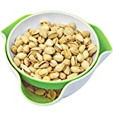 Southern Homewares Double Dish Pedestal Serving Snack Dish For Peanuts Pistachios Cherries Edamame Fruits Candy Snacks