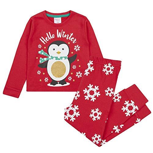 4Kidz Infant Boys & Girls Christmas Long Sleeved Pyjama Set Penguin 4-5 Years