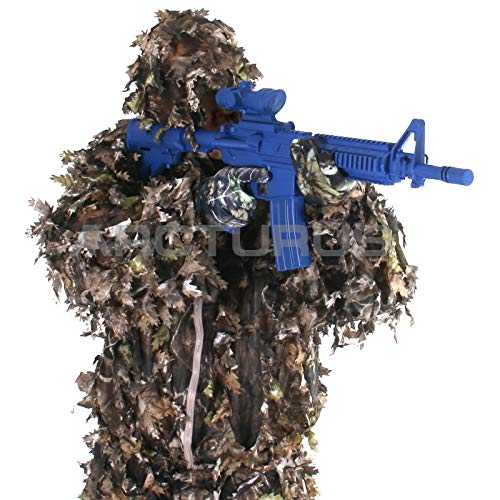 Arcturus 3D Ghillie Leaf Suit: Lightweight, Breathable Leafy Camo Suit for Hunting, Paintball, and Airsoft with Over 1,000 Laser-Cut Leaves (Dark Woodland, ML)