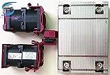 SAUJNN Disipador de calor y 2 ventiladores para DL360 DL360p G9...