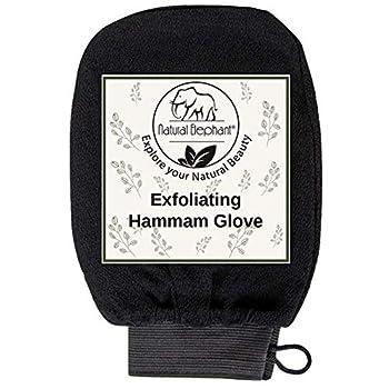 Natural Elephant Exfoliating Hammam Glove - Pure Black