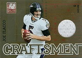 Autograph Warehouse 343587 Joe Flacco Player Worn Jersey Patch Football Card - Baltimore Ravens 2011 Donruss Elite No. 16