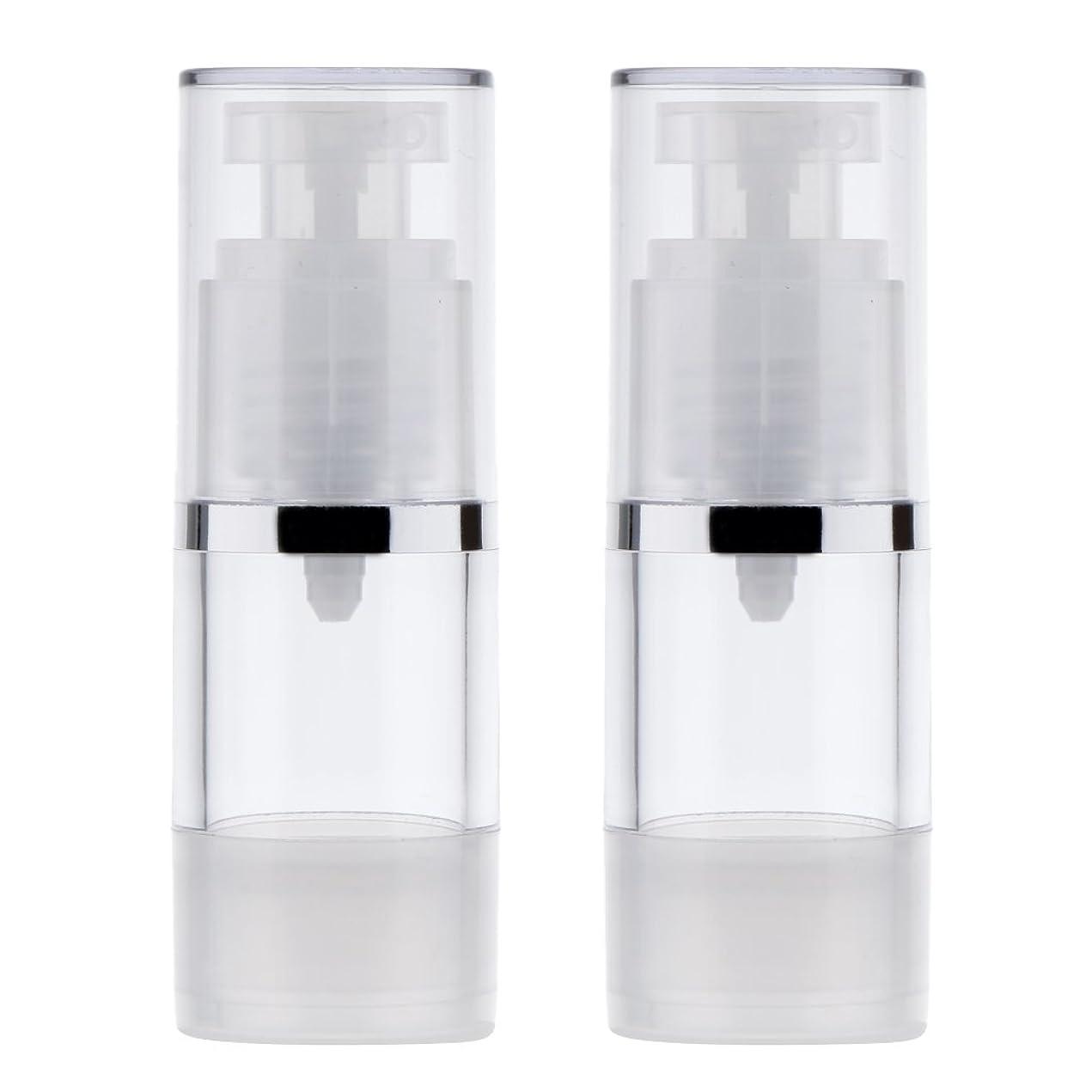 リテラシー大きさ証言するBlesiya 2個 ポンプボトル ディスペンサー 詰め替え可 化粧品 クリーム ローション ポンプチューブ エアレスボトル 収納用 容器 3サイズ選べる - 15ml