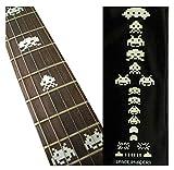 Inlay Sticker - Marcador de posición para guitarras y bajos - Invaders espaciales - multicolor