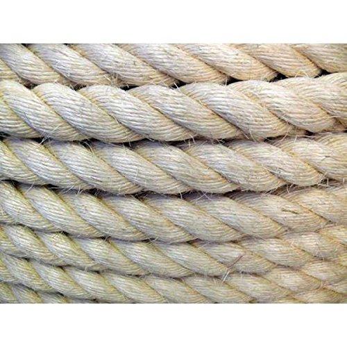 Westward Ropes Natural Rope - Sisal Natural Rope 6mm x 27 Metres