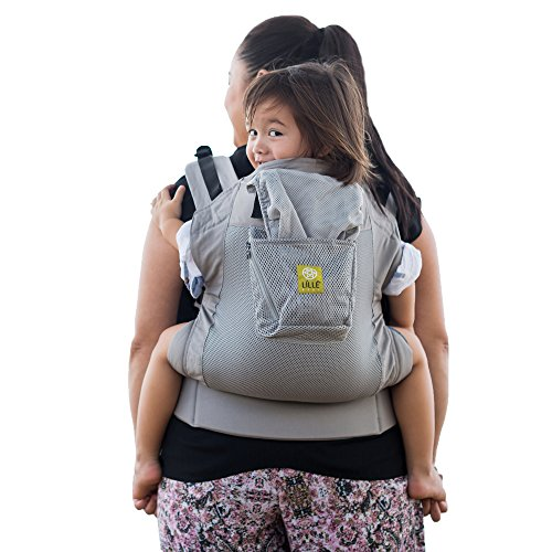 LILLEbaby 3 in 1 CarryOn Air Toddler Carrier, Air - Grey/Silver