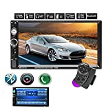 Doppel Din Autoradio/Car Stereo/Audio,Youyuekeji 7'Touchscreen-Digital-LCD-Monitor, MP3 / USB/SD AM/FM, Bluetooth, drahtlose Fernbedienung, Rückfahrkamera, Lenkradsteuerung