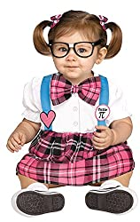baby girl dressed as a nerd for halloween