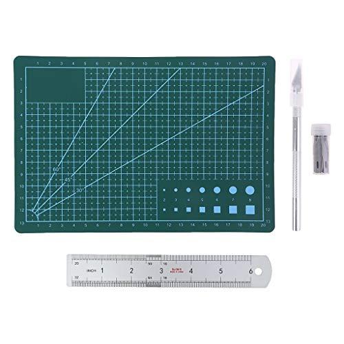 Boji Carving Craft - Juego de cuchillos A5, hojas de arte, tabla de cortar, regla para manualidades y scrapbook de 23 unidades