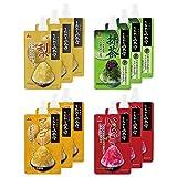 井村屋 かき氷シロップ 「こだわりの氷みつ」 4種セット (いちご 抹茶 梨 マンゴー) 150g 各3袋