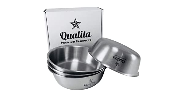 E-far 12 Ounce Double-Deck SUS304 Stainless Steel Bowls for Baby Children Healthy /& Matte Finish Bowls for Kids Toddlers Insulated /& Shatterproof Set of 4