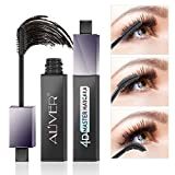 4D Silk Fiber Eyelash Mascara,Lengthening and Thick, Long Lasting for 12 Hours, Perfect Waterproof Effect
