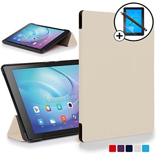 Cases Huawei MediaPad T2 10.0 Pro Hülle Schutzhülle Smart Case Cover + Stift & Displayschutz (WEIß)