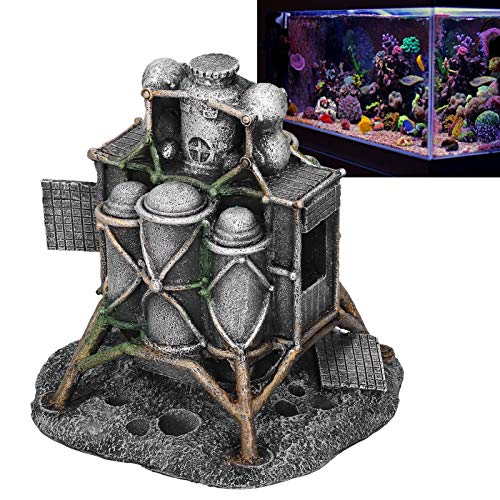 Seacanl Moon Lander Fish Ornaments, Aquarium Decorations, Safe Fish for Aquarium