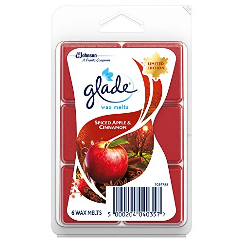 Glade Wax Melts Lufterfrischer Apfel und Zimt, 6 Stück pro Packung