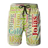 Boys' Quick Dry Swim Trunks Beach Surfing Board Shorts Jewelry in Ancient Rome t