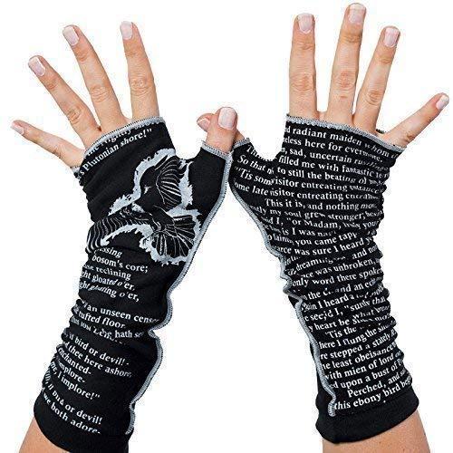 The Raven by Edgar Allan Poe - Fingerless Writing Gloves