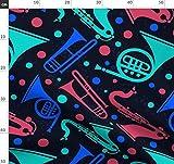 Musik, Trompete, Klarinette, Punktmuster, Musical, Stoffe -