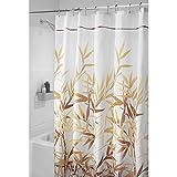InterDesign 36511 Anzu Fabric Shower Curtain  - Stall, 54' x 78', Brown