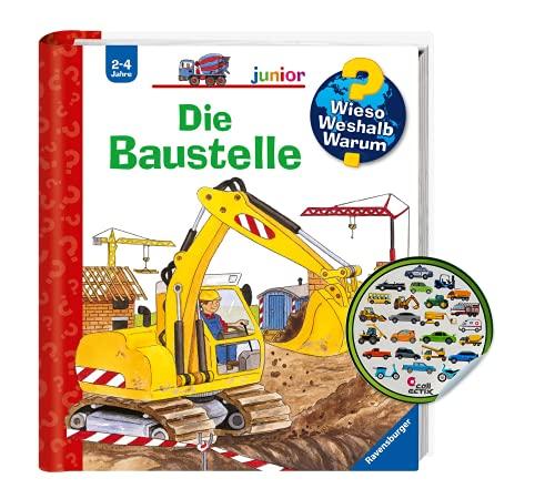 Buchspielbox Varför Weshalb? Varför? junior: Byggarbetsplatsen (Band7) klistermärke för barn   Barnbok från 2 år