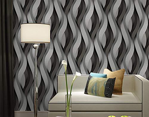 3D dreidimensionale minimalistische abstrakte Wellenmuster PVC Wohnzimmer TV Hintergrundbild KTV Bar TV Hintergrundbild