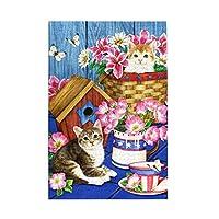1000ピース ジグソーパズルpatriotic Kitties かわいい子猫 パズル ジグソーパズル 木製 超ミニピース ジグソーパズル 減圧 大人 おもちゃ コレクション 贈り物 75cmx50cm