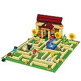 Rawikan Plantas contra zombis y números en una batalla de laberinto de jardín pueden lanzar bloques (compatible con Lego)