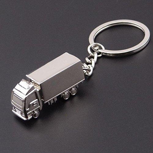 Gaddrt Petit modèle de camion de porte-clés automatique de porte-clés d'alliage d'anneau, 1pc