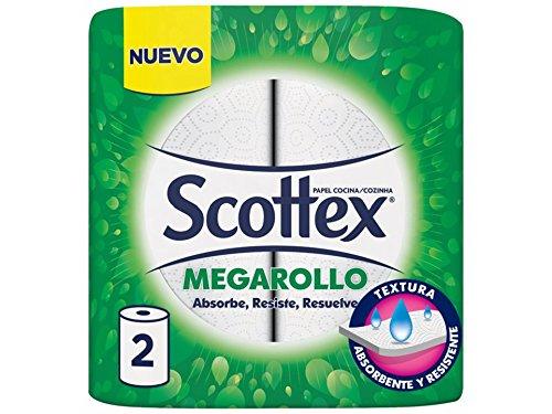 Scottex - Papel de cocina - Súper absorbente - 2 rollos