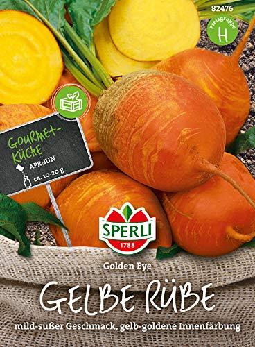 82476 Sperli Premium Rote Bete Golden Eye | Angenehm Mild und Süß | Goldgelb | Rote | Gelbe Bete Saatgut | Beete Samen