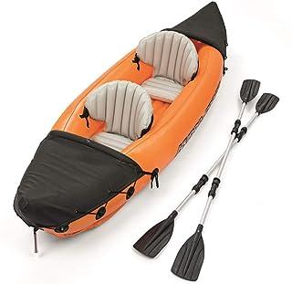 ADM-LC Barco Inflable Kayak Hinchable 2 plazas Kayak DE Paseo Barco Inflable Adulto PVC 321x88cm 4