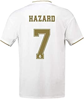 #7 Hazard Soccer Jersey Real Madrid 2019-2020 Season Home Mens Jersey White