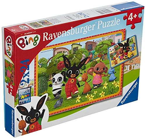 Ravensburger Puzzle, Bing, Puzzle 2x24 Pezzi, Puzzle Bambini, Età Consigliata 4+, Puzzle Ravensburger - Stampa di Alta Qualità