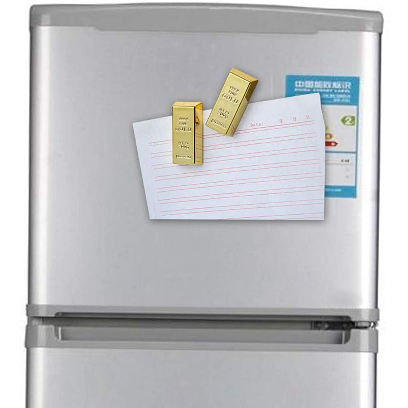 キリストうなり声ショップDaeumゴールドレンガシェイプ冷蔵庫マグネット樹脂クラフトギフト家の装飾お土産