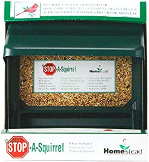 Homestead 3201S Super Stop-a-Squirrel Bird Seed Feeder, Green River Texture