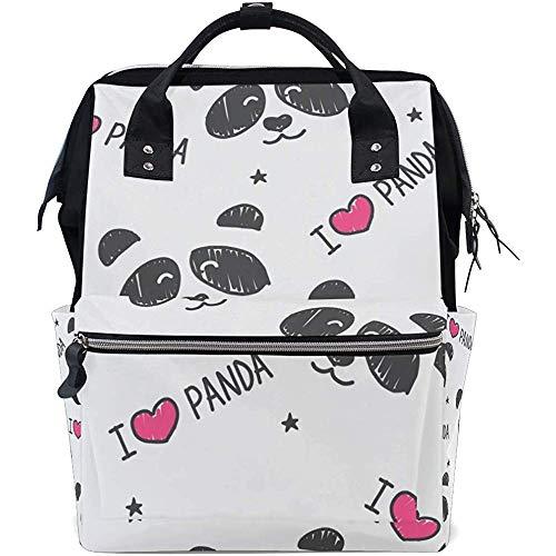Daypacks Nette Panda Mom Baby Taschen Windel Casual Rucksack Unisex 28X18X40Cm Große Kapazität Multifunktionsrucksäcke Reißverschluss Travel Dad