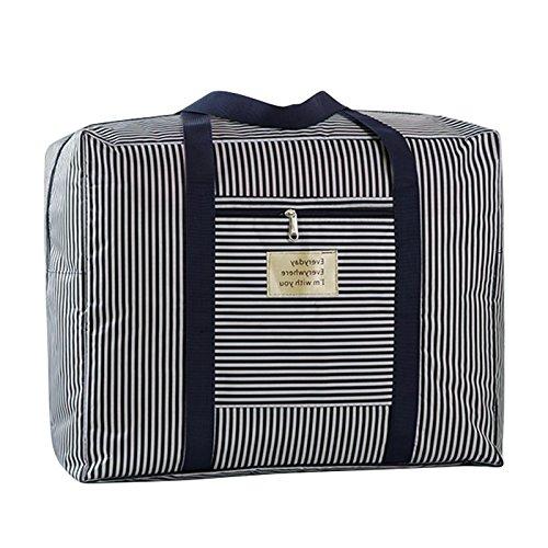 Große Oxford Aufbewahrungstasche Robuste Trage-Tasche handliche Reisegepäck Bettdecken Kissen Gepäcktaschen Auflagentasche Betttaschen Waschesack für Decken Bettdecken Kleidung(60*50*30CM)
