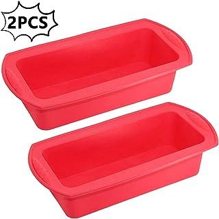 Torte polpette e Dessert. 2PCS Silicone Senza BPA teglia da Forno in Silicone Antiaderente utilizzato per Pane Fai-da-Te Brandless Stampo per Pane