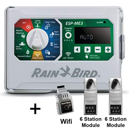 Rain-Bird Controller Indoor Outdoor Lawn Irrigation Sprinkler Timer ESPME3 (+ WiFi + 2 Modules)