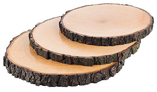 Rindenbrett, rund, natürliche Baumscheibe aus Esche mit Rinde, farblos lebensmittelecht lackiert/Ø 20-22, 23-26 oder 27-30 cm | ERK (A2 - Ø 23-26 cm)