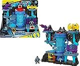 Imaginext DC Batcueva Bat Tech Casa de juguete con luces y sonidos para figuras, incluye 1 muñeco de Batman (Mattel GYV24)