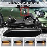 AniFM 2PCS Luz de señal de Giro Que Fluye Luz de Marcador Lateral LED dinámica Lámpara de Panel de lámpara de repetidor Lateral Lámpara para BMW Mini Cooper R60 R61,B