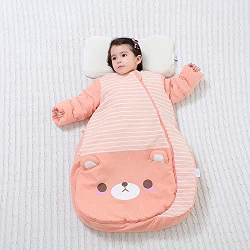 flqwe Baby Kids Zachte Warm Deken Slaapzak, Constante temperatuur vier seizoenen baby slaapzak, katoen baby anti-kick quilt, Baby Swaddle Deken wandelwagen Wrap