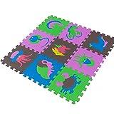 LYYK Tappeto A Puzzle 30x30cm, Stuoia Protettiva ad Incastro Puzzle tappetini Grande Tappetini protettivi, per Pavimento Efficace Contro i liquidi e Urti